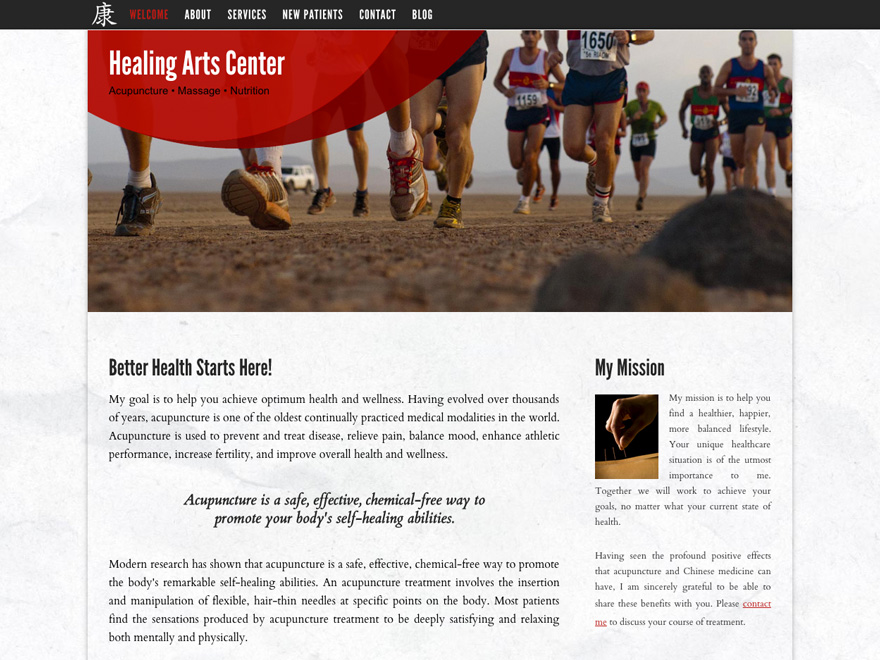 Rising sun acupuncturist website design (#00025)