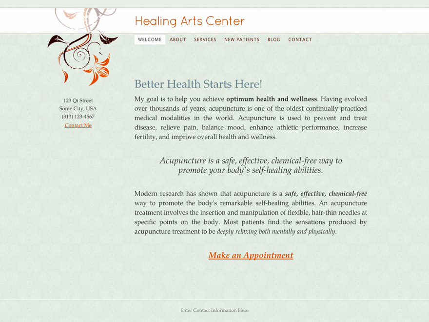 Simple Life acupuncturist website design (#00027)