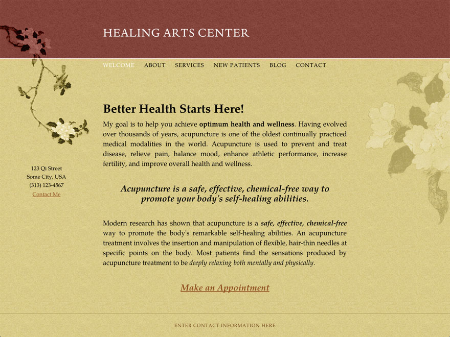 Bending Branch acupuncture website theme (#00028)