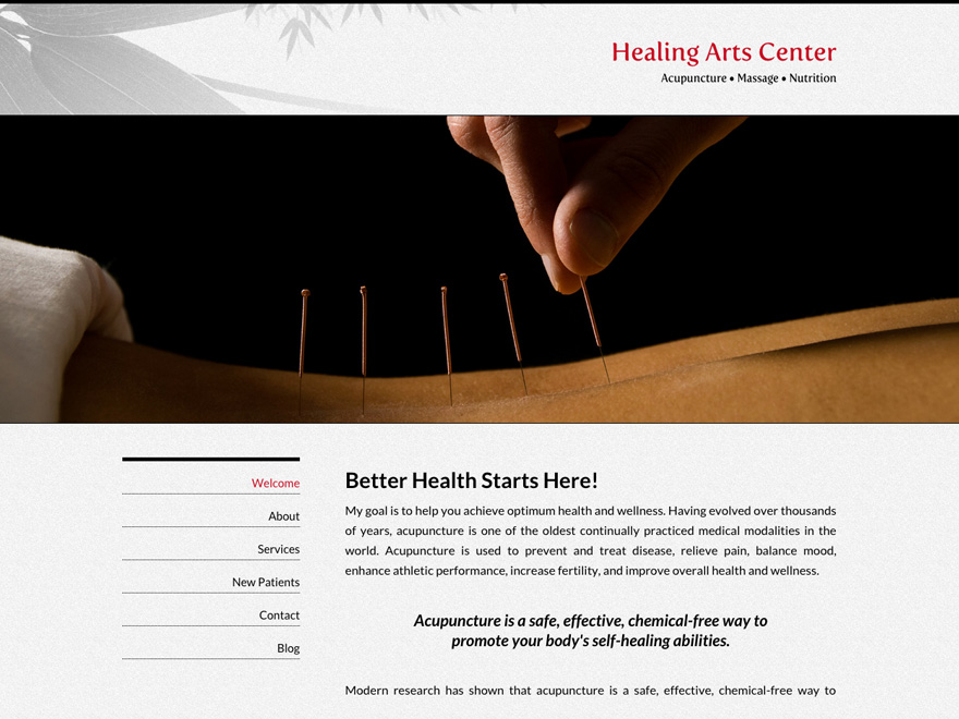 Bambooish acupuncture website (#00045)