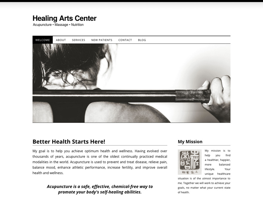 Soho horizontal mobile website design for acupuncture (#00051)