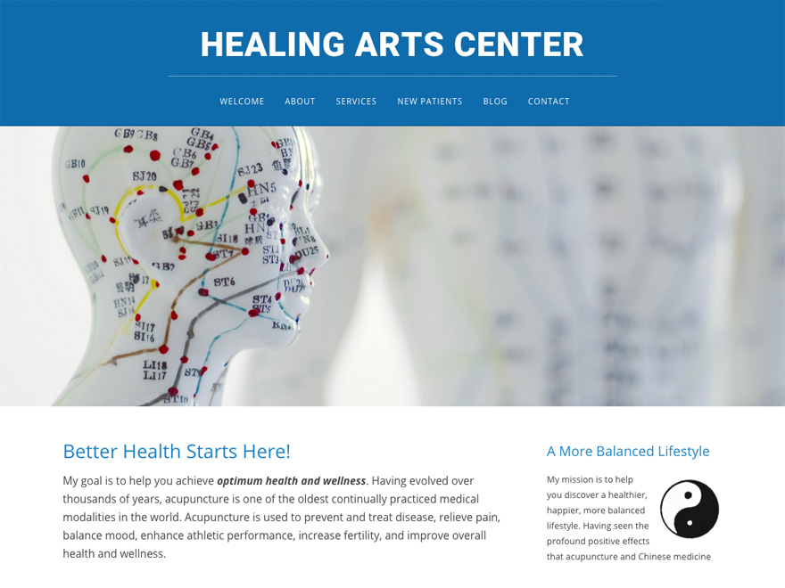 Picture Perfect mobile-friendly acupuncture website design (#00071)