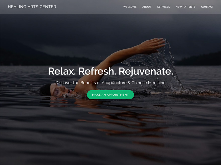 Tranquil Lake responsive acupuncture website (#00094)
