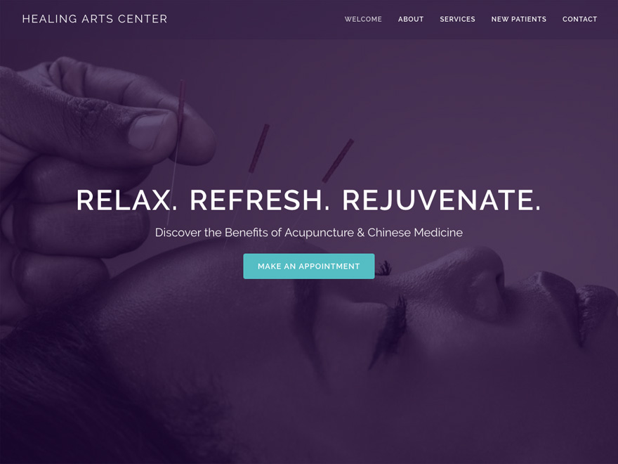 Rejuvenate mobile-friendly acupuncture website design (#00095)