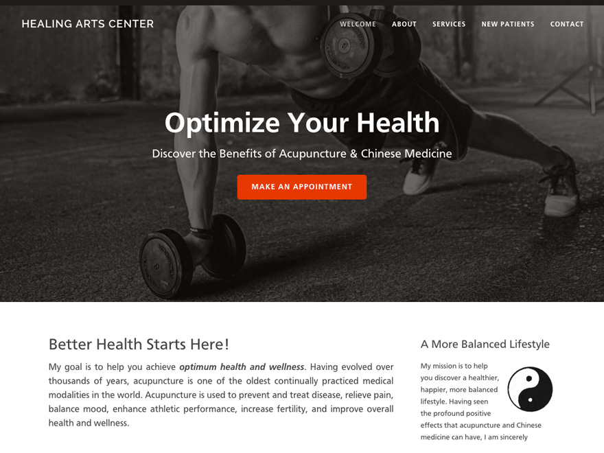 Sports Bar mobile-friendly acupuncture website design (#00096)